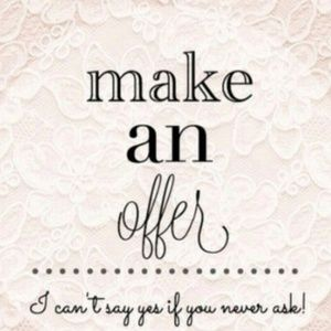 💖OFFERS WELCOME💖